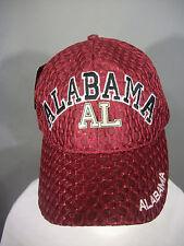 Alabama Roll Tide Football Crimson Black Mesh Net Adjustable Strap Cap Hat AL