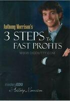 Anthony Morrison's 3 Steps to Fast Profits (DVD, 2009)