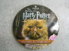 Harry Potter studio tour pin badge (steel) - Animal Actors 2014 - Crookshanks