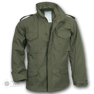 US MILITARY STYLE M-65 COMBAT FIELD JACKET ARMY VIETNAM M65 OLIVE GREEN