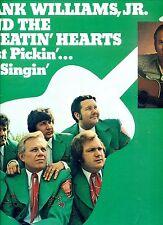 HANK WILLIAMS JR AND THE CHEATIN HEARTS just picin... no singin US 1973 EX LP