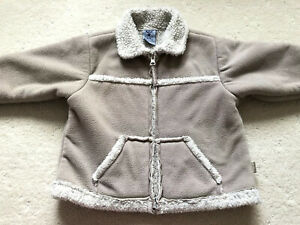 Winter Boy Size 1 Fleece Thick Jacket, Pumpkin Patch In Excellent Used