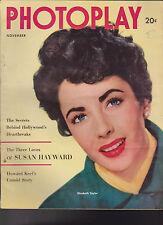 Photoplay November 1952 Elizabeth Taylor Susan Hayward Marilyn Monroe