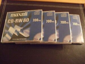 4  x  Maxell CD-RW 80    700mb  Discs
