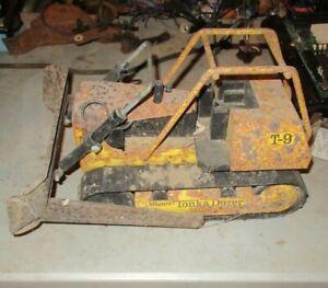 1970's Large Mighty Tonka T9 Dozer Bulldozer  Original For Parts Or Restoration