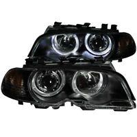 Anzo 121269 Projector Headlight w/Halo Clear Lens Black Housing w/Corner Lights