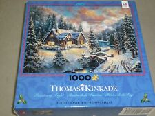 CEACO 1000 pc puzzle HIGH COUNTRY CHRISTMAS by THOMAS KINKADE - BRAND NEW