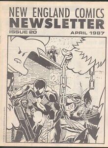 NEW ENGLAND COMICS NEWSLETTER # 20 1987 APRIL TICK AD PRE-DATES # 1 SPIDERMAN
