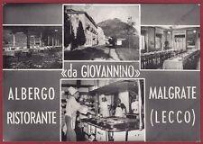 LECCO MALGRATE 03 RISTORANTE da GIOVANNINO Cartolina FOTOGRAFICA viaggiata 1958