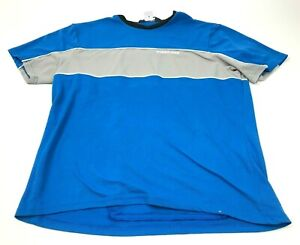 Pearl Izumi Cycling Shirt Size Large Adult Blue Gray Tee Short Sleeve Zip Pocket