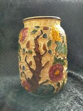 More details for indian tree handpainted vase by tony wood