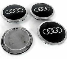 4x 69mm Schwarz Felgendeckel Rad Nabendeckel Nabenkappen AUDI HD Alufelgen Audi