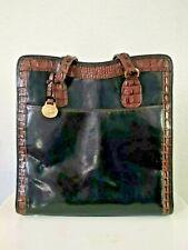 NWOT Stunning BRAHMIN Large Bag Melbourne Leather Croc Embossed Purse w/ Bag