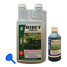 NBS RIBUT Combo Pack 1L Green Algae Water Treatment + Algae Control UV Pond Dye