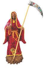 "14"" Statue of La Santa Muerte Red Holy Death Grim Reaper Roja Imagen"