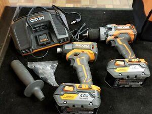 Ridgid Impact Driver R86037 & R86116 hammer Drill Combo