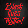 BLACK LIVES MATTER George Floyd Breathe Rot Auto Vinyl Decal Sticker Aufkleber