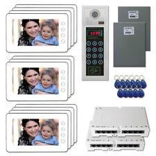 "Multi Tenant Access Door Video System Intercom Kit with (11) 7"" Color Monitors"