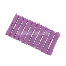 Professional Concave Perm Rods Plastic Hair Curler Rollers Lot of 10