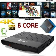 KM8P S912 Octa Core 2Ghz Smart Android 7.1 TV Box 4K VP9 3D WiFi Media Player