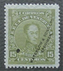 nystamps Venezuela Waterlow Color Proof Stamp MOGNH Only 100 Exist. O15x1330