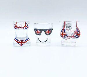 London Souvenirs Union Jack Bikini Boobs Shot Glass Set Of 3 Gift