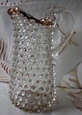 Carafe XVII-XVIII ème Pays bas Liège Pointe de Diamant verre Soufflé fin trace d
