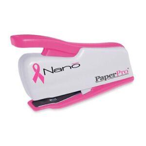 Bostitch Incourage 12 Nano Mini Stapler, 12-Sheet Capacity, Pink/White