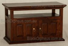 TV Cabinet, Small TV Stand, Solid Timber, W97xD47xH60, Entertainment Unit