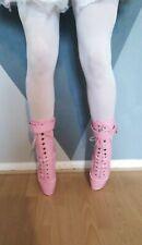 Ladies Cross Dresser Size 44 9 Tip Toe Ballet Boots High Heels Pink tranny wide