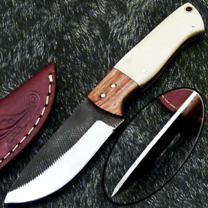 Stunning Handmade HIGH Carbon Real File Steel Fixed Blade Hunting Knife PS-130