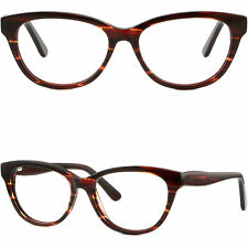 Thick Strong Women's Plastic Frames Spring Hinges Glasses RX Sunglasses Burgundy