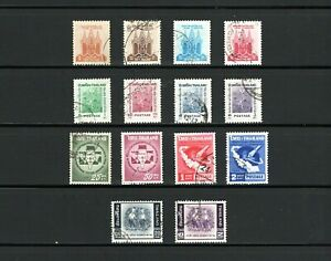 Thailand -- 3 complete sets used commemoratives from 1961-62 -- cv $8.00