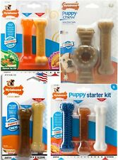 Nylabone Puppy Multiple Bone Flavour Dura Chew Tough Durable Strong Dog Bone Toy