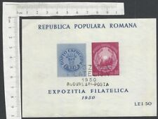 Romania 1950 Stamp Exhibition miniature sheet used