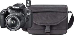 B-Ware Canon Spiegelreflexkamera EOS 2000D 18-55 24,1MP Full HD & SD-Karte