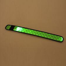 Glowing LED Lights Flash Nylon Cuff Light Up Reflective Gear Bracelet Wrist Band