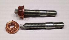 12 Stück Torx Stehbolzen M8x55 (M8x49) für Krümmer + Kupfermutter M8 mit Bund