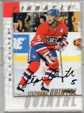1998 PINNACLE HOCKEY STEPHANE OUINTAL AUTO