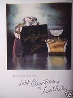 PUBLICITÉ 1947 PARFUM DARK BRILLIANCE DE LENTHÉRIC - ADVERTISING