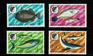 U0141 ASCENSION ISLAND 1968 Fish MNH