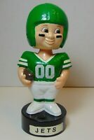 Working Old Vintage 1980s NEW YORK JETS NFL FOOTBALL BOBBLEHEAD DOLL BY SKORE