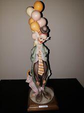 Giuseppe Armani Figurine #217 Hobo Tender Clown G. Armani, Balloons Umbrella