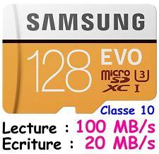 SAMSUNG - Carte Mémoire EVO 2017 ( 95 et 100 MB/s ) Micro SDHC SDXC 32 64 128 Go