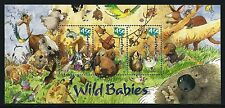 2001 Wild Babies Miniature sheet second of the two issued MUH