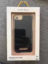 Nenette Lepore Iphone 7 / 8 Black Fake Leather Decorative Rose Gold Brand New