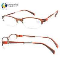 62c4326cb27 High Quality TR+Metal Half Rim Slim Reading Glasses Coating Lens +1.00 to +