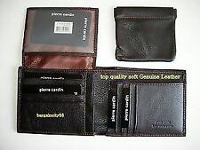 Pierre Cardin Men's Genuine Italian Leather Wallets Removable Coin Purse - Black