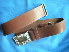 NEW Chrome Plated Scottish  WAIST BELT for Kilt With Heavy Brass buckle