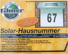 Beleuchtete Solar Hausnummernleuchte Haus Hausnummer 4 LED Solarhausnummer NEU